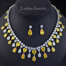 luxury necklace images New design big brand yellow golden stone luxury necklace earring jpg