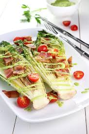 grilled romaine with green goddess dressing u2013 eat well