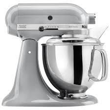 kitchenaid artisan stand mixer 5qt 325 watt metallic chrome