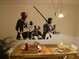 wall art design ideas oriental world war samurai wall art dining