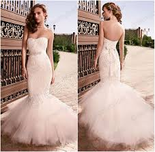 sweetheart lace and tulle mermaid fishtail wedding dresses
