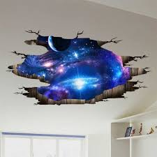 Star Decals For Ceiling by 3d Universe Galaxy Ceiling Wall Decals For Kids Rooms