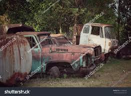 rusty car photography old car pilok mine kanchanaburi thailand stock photo 611426453