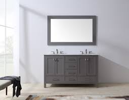 stufurhome 60 inch malibu grey double sink bathroom vanity with