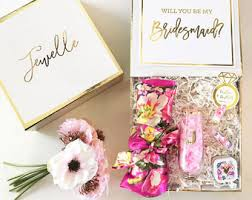 will you be my flower girl gifts bridesmaid boxes etsy