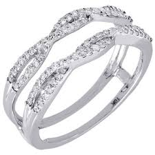 engagement ring enhancers 10k white gold solitaire engagement ring enhancer wrap