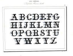 typography alphabet ornamental 21 threadart