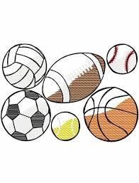 sports balls sketch embroidery design jazzy zebra designs