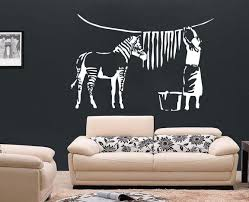 banksy wall art zebra free squeegee vinyl decal sticker banksy wall art zebra free squeegee vinyl decal sticker transfer mural large