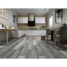 kitchen cabinets with gray floors vinyl planks spc rigid lvt capilano grey 5 2mm thickness 12mil wear layer attached premium pad