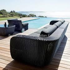 rattan lounge sofa wicker lounge funiture garden sectional rattan sofa fco 023