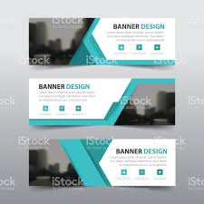 layout banner template blue abstract triangle corporate business banner template horizontal