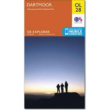 map of dartmoor including dartmoor national park os explorer map
