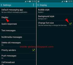 how to change the font on android samsung galaxy s5 how to change font size in messaging app in
