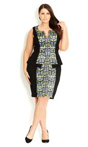 Cheap Plus Size Womens Clothing 100 Affordable Plus Size Clothes Geo Print Bodycon Dress