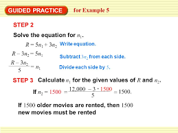 guided practice for example 5 solve the equation for n 1