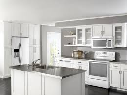 grey cabinets and white appliances kitchen room design custom