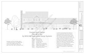 h212 country 2 story porch house plan blueprints construction