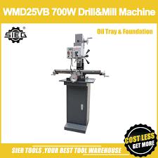 fraiseuse sieg x2 wmd25vb 700 w forage mill machine avec bac à huile et fondation