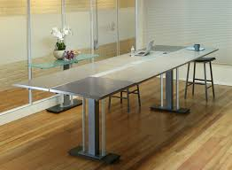 Circle Meeting Table Stand Up Conference Table Stoneline Designs