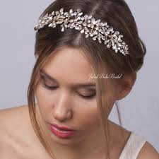 bridal tiara bridal headpiece wedding hair vine wedding tiara 0165