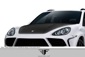 Porsche Cayenne Body Kit - 11 14 porsche cayenne af 4 aero function body kit hood 112697