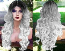 how to blend in gray roots of black hair with highlig gray human hair blend lace front wig pink silver swiss lace