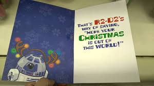 star wars r2 d2 singing christmas card youtube