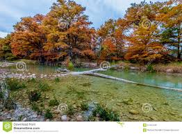 Garner State Park Map Fall Foliage Surrounding The Frio River At Garner State Park Stock
