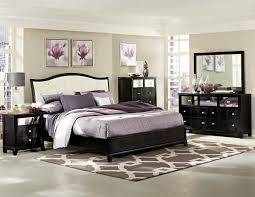 furniture black stained wood kingsize bed with white leather