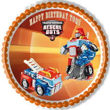 transformers rescue bots 1 edible cake or cupcake topper edible transformers rescue bots 6 edible cake or cupcake toppe edible