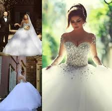 wedding dress up for said mhamad 2018 sleeve wedding dresses vestidos de noiva