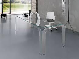 Glass Desk Office Furniture by Nella Vetrina Tonelli Nervi Contemporary Italian Glass Desk In Glass