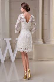 46 Pretty Wedding Dresses With by Knee Length Wedding Dresses With Sleeves Dress With Sleeves Knee