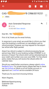 airasia refund policy airasia refund for airport tax if you have non refundable ticket