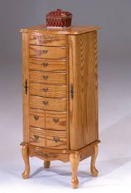 large oak jewelry armoire by bernards home gallery stores
