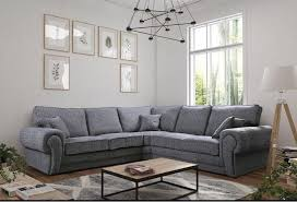 grey fabric corner sofa large grey fabric corner sofa sofas direct