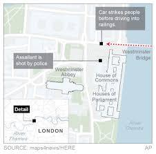 terrorist kills 3 including a policeman outside london ap graphic attack near britain s parliament