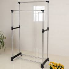 Wall Mounted Cloth Dryer Double Pole Telescopic Clothes Rack Double Pole Telescopic