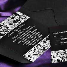 affordable pocket wedding invitations vintage black and white pocket wedding invitations with response