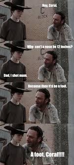 Memes Walking Dead - 35 of the best walking dead carl meme coral dad jokes
