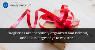 wedding gift not on registry inside weddings registry the emily post institute inc