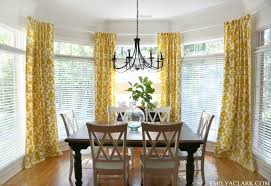 window treatments for bay windows in dining rooms good idea use rustoleum to spray paint the dated brass lighting