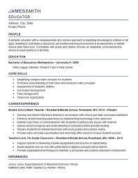 resume format for fresher maths teachers guide math teacher resume nardellidesign com