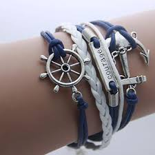 leather wrap bracelet with anchor images Anchor leather bohemian infinity wrap bracelet the shopping passion jpg