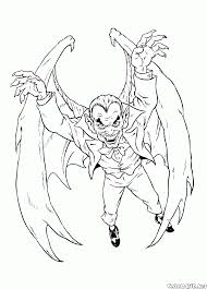 coloring page monsters and villains