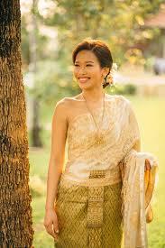 Thai Wedding Dress Traditional Thai Wedding Junebug Weddings