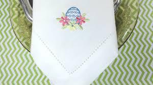 easter napkins easter egg embroidered cloth napkins set of 4 napkins white