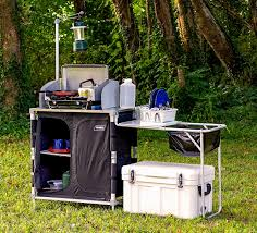packing storing and organization tips for a camping kitchen