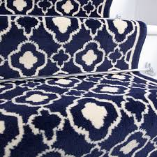 50cm width contemporary navy blue trellis stair carpet kukoon